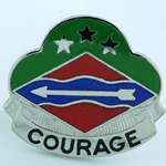 DUI, 39th Infantry Brigade, Motto, COURAGE
