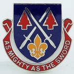 DUI, 28th Personnel Services Battalion, Motto, AS MIGHTY AS THE SWORD