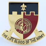 DUI, 64th Support Battalion, D-5386, Motto, HE LIFE BLOOD OF THE ARMY