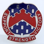 DUI, 56th Personnel Services Battalion, Motto, SUPPORT STRENGTH VICTORY