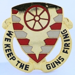 DUI, 70th Ordnance Battalion, Motto, We Keep the Guns Firing