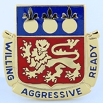DUI, 85th Maintenance Battalion, Motto, Willing, Aggressive, Ready