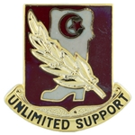 DUI, 105th Support Battalion, Motto, UNLIMITED SUPPORT