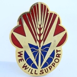 DUI, 100th Support Battalion, D-3524, Motto, WE WILL SUPPORT