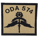 Patch, Operational Detachment Alpha (ODA) 574, Type 1, Desert - Black
