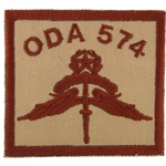 Patch, Operational Detachment Alpha (ODA) 574, Type 1, Desert - Spice Brown
