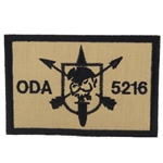Patch, Operational Detachment Alpha (ODA) 5216, Desert - Black
