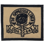 Patch, Operational Detachment Alpha (ODA) 542, Desert - Black