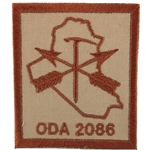 Patch, Operational Detachment Alpha (ODA) 2086, Desert - Spice Brown