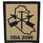 Patch, Operational Detachment Alpha (ODA) 2086, Desert - Black