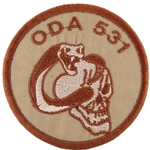 Patch, Operational Detachment Alpha (ODA) 531, Type 1, Desert - Spice Brown