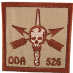 Patch, Operational Detachment Alpha (ODA) 526, Desert - Spice Brown