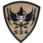 Patch, Operational Detachment Alpha (ODA) 524, Desert - Black