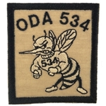 Patch, Operational Detachment Alpha (ODA) 534, Desert - Black