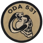 Patch, Operational Detachment Alpha (ODA) 531, Type 1, Desert - Black