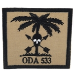 Patch, Operational Detachment Alpha (ODA) 533, Desert - Black