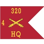 Guidons, Headquarters, 4th Battalion, 320th Field Artillery Regiment, 20-inch hoist by a 27-inch fly