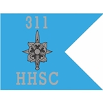 Guidons, HHSC, 311th Military Intelligence Battalion, 20-inch hoist by a 27-inch fly