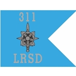 Guidons, LRSD, 311th Military Intelligence Battalion, 20-inch hoist by a 27-inch fly