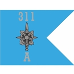 Guidons, Company A, 311th Military Intelligence Battalion, 20-inch hoist by a 27-inch fly