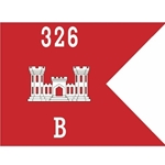 Guidons, Company B, 326th Engineer Battalion, 20-inch hoist by a 27-inch fly