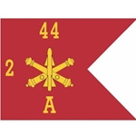 Guidons, Company A, 2nd Battalion 44th Air Defense Artillery Regiment, 20-inch hoist by a 27-inch fly