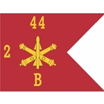 "Guidons, Company B, 2nd Battalion 44th Air Defense Artillery Regiment ""Reapers"", 20-inch hoist by a 27-inch fly"