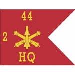 Guidons, HQ, 2nd Battalion 44th Air Defense Artillery Regiment, 20-inch hoist by a 27-inch fly