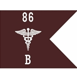 Guidons, Bravo Company, 86th CSH, 20-inch hoist by a 27-inch fly