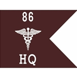 Guidons, Headquarters and Headquarters Detachment, 86th CSH, 20-inch hoist by a 27-inch fly