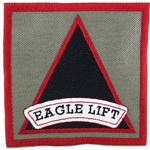 "Patch, 7th Battalion, 101st Aviation Regiment (GSAB) ""Eagle Lift"", Foliage Green"