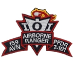 Patch, 159th Aviation Brigade, PFDR, 7th Battalion, 101st Aviation Regiment, Color, Small New Type