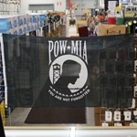 Flag, Prisoner of War / Missing in Action, 3X5 Printed Polyester