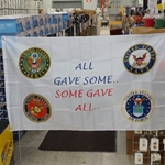 Flag, All Gave Some, Some Gave All, 3X5 Printed Polyester