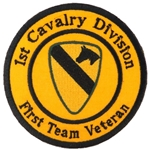 Patch, 1st Cavalry Division, First Team Veteran