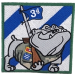 Patch, 3rd Infantry Division, Rocky the Bulldog, Color