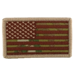 Patch, American Flag without Velcro®, MultiCam® Type 4