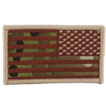 Patch, Reversed American Flag without Velcro®, MultiCam® Type 2