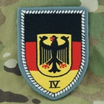 Patch, Bundeswehr, Military Area Command IV, Only 1 In Stock
