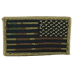 Patch, Reversed American Flag with Velcro®, MultiCam® Type 5
