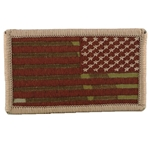 Patch, Reversed American Flag with Velcro®, MultiCam® Type 1