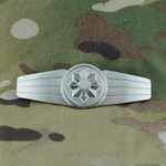 Badge, Bundeswehr, Military Police, Silver, Only 1 In Stock