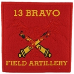 Patch, 13 Bravo, Field Artillery, Type 1