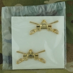 Branch of Service, Officers, Armor, G.I., Polished Brass