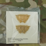 Branch of Service, Officers, Staff Specialist, G.I., Polished Brass