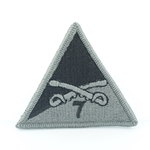 Helmet Patch,  7th Squadron 17th Cavalry Regiment, Black ACU with Velcro® Type 1