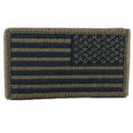 Patch, Reversed American Flag with Velcro®, Subdued