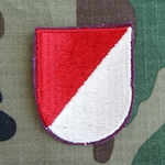 Beret Flash, 1st Squadron (Airborne) 17th Cavalry Regiment Type 1, Cut Edge