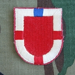 Beret Flash, 20th Engineer Brigade, Old Type, Cut Edge
