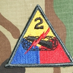 Patch, 2nd Armored Division, without Hell On Wheels Tab, Color